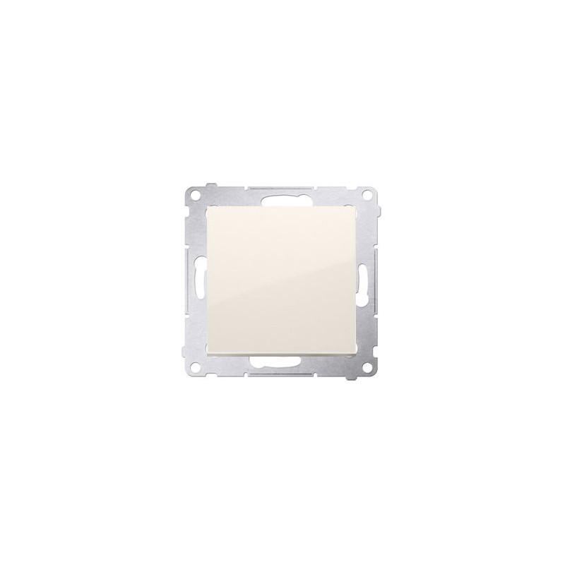 Kremowy włącznik jednobiegunowy 10AX  DW1.01/41 Simon 54  Kontakt-Simon
