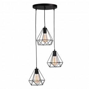Oswietlenie-sufitowe - lampa ażurowa potrójna na kole druciana 3xe27 .vigo polux
