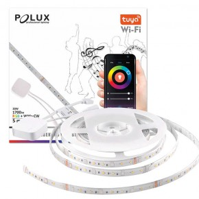 Tasmy-led - taśma led z funkcją muzyczną sterowana smartfonem 16w 3000k/4000k/6000k+rgb wifi smart tuyasmart polux