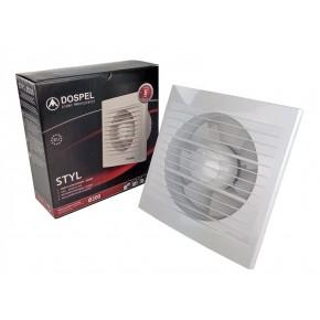 Wentylatory-lazienkowe - standardowy wentylator domowy biały o średnicy 200mm styl 007-0007 dospel