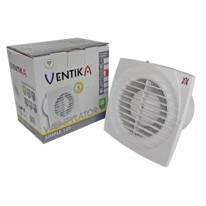 Wentylatory-o-srednicy-100 - wentylator domowy osiowy biały z wyłącznikiem czasowym fi100 simple d 100 d wc ventika