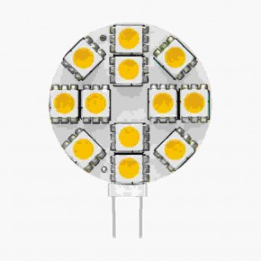 Gwint-trzonek-g4 - żarówka led12 talerzykowata g4 12v 1,5w 130lm 3000k 8951 kanlux