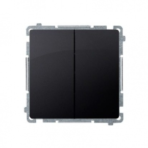 Włącznik świecznikowy (moduł) szybkozłączka grafit mat BMW5.01/28 Simon Basic Kontakt-Simon