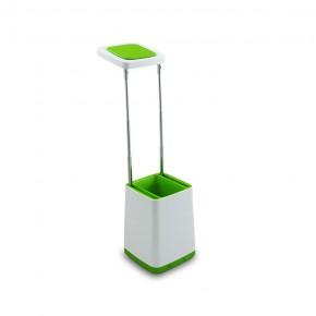 Lampki-biurkowe - lampka biurkowa led z pojemnikiem na przybory szkolne zielona helsinki polux