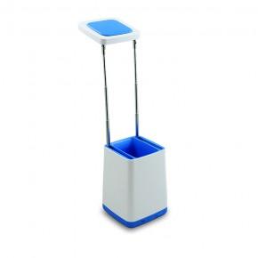 Lampki-biurkowe - niebieska lampka led na biurko z przybornikiem 4.2w usb helsinki polux
