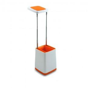 Lampki-biurkowe - pomarańczowa lampka szkolna na biurko z przybornikiem 4.2w usb helsinki polux
