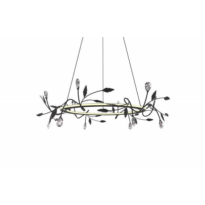 Lampy-sufitowe - lampa sufitowa z dekoracjami w kształci liści led giaros 65 36w 4000k apeti a0028-320 candellux firmy Candellux