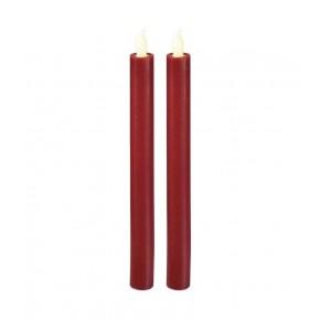 Oswietlenie-choinkowe - świeczki 25 cm 2× aaa czerwone, kpl. 2 szt emos - 1534226800
