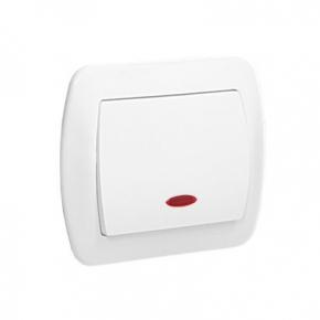 Biały włącznik jednobiegunowy z podświetleniem AW1L/11 Simon Akord Kontakt-Simon