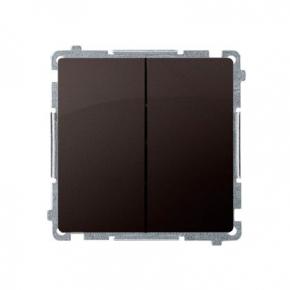Włącznik świecznikowy (moduł) szybkozłączka czekoladowy mat BMW5.01/47 Simon Basic Kontakt-Simon