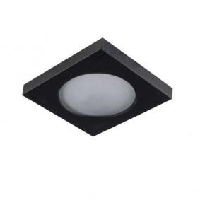 Oprawy-sufitowe - pierścień oprawy punktowej czarny kwadratowy flini ip44 dsl-b kanlux
