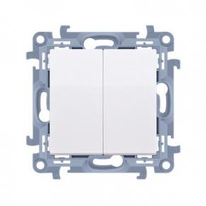 Biały włącznik świecznikowy CW5.01/11 Simon 10 Kontakt-Simon