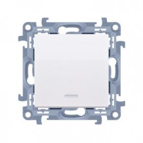 Biały włącznik jednobiegunowy z podświetleniem LED CW1L.01/11 Simon 10 Kontakt-Simon