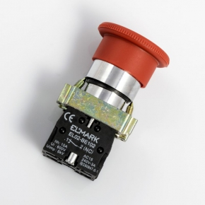 Wylaczniki-awaryjne - przycisk  dłoniowy awaryjny z blokadą grzybek  el 2-bs 545 no+nc