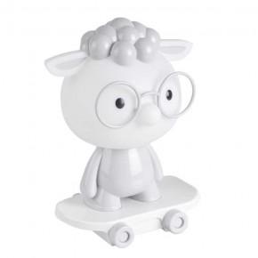 Lampki-nocne - lampka nocna led dla dziecka owieczka na deskorolce szary/biały 2,5w 314802 polux