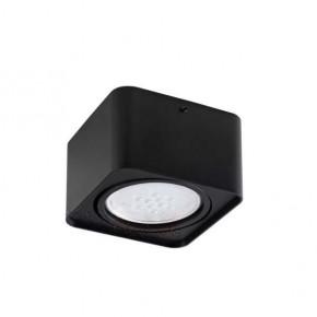 Oprawy-sufitowe - czarna oprawa sufitowa kwadratowa gu10 tubeo es 33271 kanlux