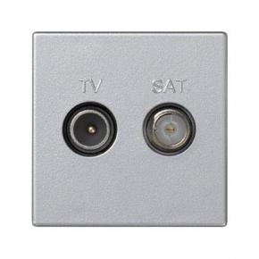 Gniazdo antenowe K45 TV-SAT aluminium K130A/8 K45 Kontakt-Simon
