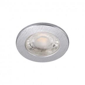 Oprawy-sufitowe - oprawa dekoracyjna led srebrna 4000k 3w okrągła fin  led c 03871 ideus