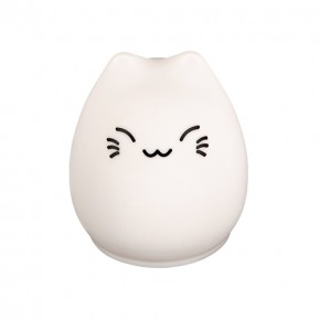 Lampki-nocne - lampa stołowa biała kot na baterie 4500k pupil led 09886 ideus