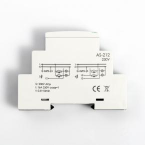 Przekazniki-bistabilne - bis-413 przekaźnik bistabilny z wyłącznikiem czasowym 230v 10a moduł f&f
