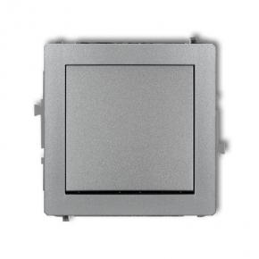 Szary włącznik jednobiegunowy 7DWP-1 DECO KARLIK