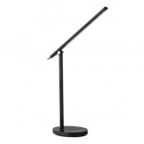 Lampki-biurkowe - lampa biurkowa czarna led minimalistyczna zginana rexar kanlux