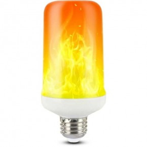Zarowki-dekoracyjne - żarówka dekoracyjna led imitująca płomień e27 3w 1400k flame 310156 polux