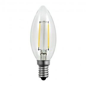 Gwint-trzonek-e14 - żarówka led e14 świeczka z dekoracyjnymi filamentami 2w-23w 3000k 230lm 305114 polux