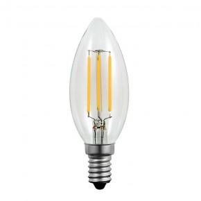 Gwint-trzonek-e14 - żarówka led e14 świeczka o mocy 4w ciepłe światło 3000k z filamentami 305107 polux