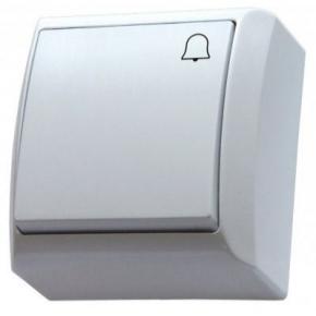 Przycisk dzwonkowy natynkowy biały BIS OSPEL ŁN-6B/00
