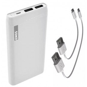Baterie - powerbank 10000 mah biały b0523b alpha 10s emos