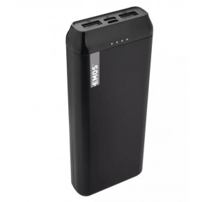 Baterie - powerbank emos alpha 20000 mah czarny, micro usb + usb c emos - 1613052300