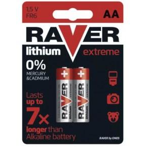 Baterie - bateria litowa raver lithium aa (fr6) blister 2 emos - 1321212000