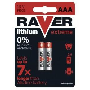 Baterie - baterie litowe aaa fr03 blister 2 sztuki raver emos