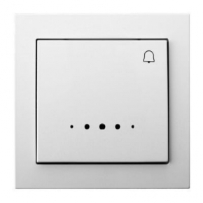 """Włącznik zwierny """"dzwonek"""" biały z podświetleniem ŁP-6WS/00 KIER OSPEL"""