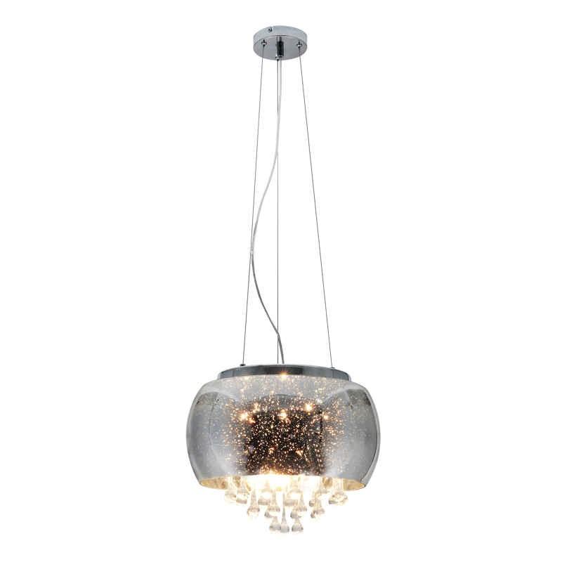 Lampy-sufitowe - lampa sufitowa wisząca chromowana 5xe14 julia polux firmy POLUX