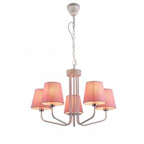 Lampy-sufitowe - różowy żyrandol na pięć żarówek e14 york ledea 50205094 candellux