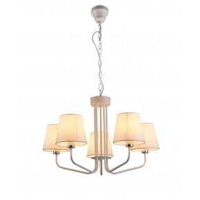 Lampy-sufitowe - wisząca lampa sufitowa pięciokrotna biała e14 york ledea 50205095 candellux