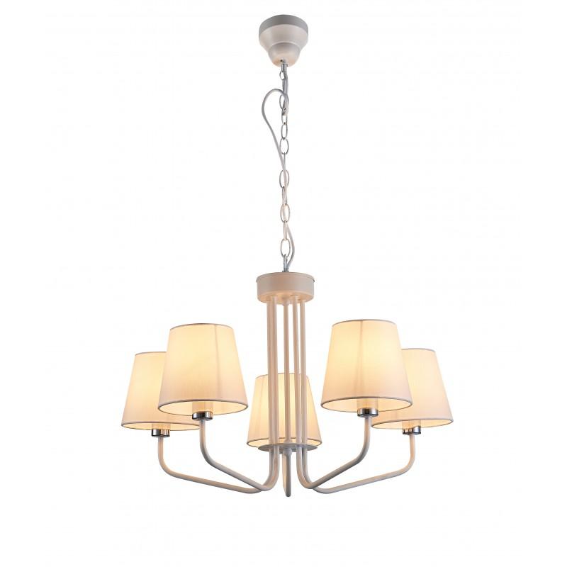 Lampy-sufitowe - wisząca lampa sufitowa pięciokrotna biała e14 york ledea 50205095 candellux firmy LEDEA