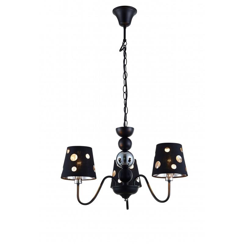 Lampy-sufitowe - czarna lampa sufitowa na trzy źródła światła e14 batley ledea 50203105 candellux firmy LEDEA