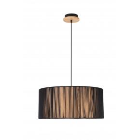 Lampy-sufitowe - oryginalna lampa wisząca czarno-brązowa 3x40w e27 kioto 50103218 ledea