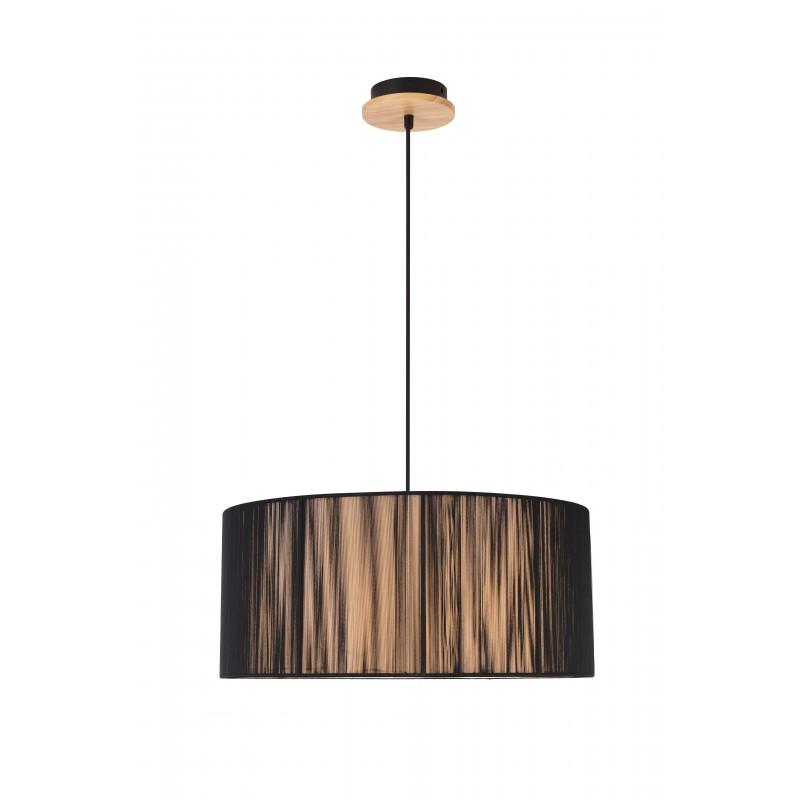 Lampy-sufitowe - oryginalna lampa wisząca czarno-brązowa 3x40w e27 kioto 50103218 ledea firmy LEDEA
