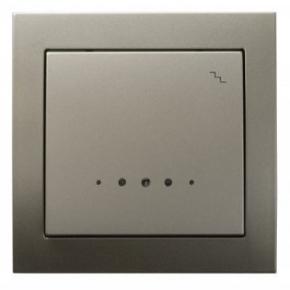Satynowy mechanizm włącznika schodowego z podświetleniem ŁP-3WS/45 KIER OSPEL