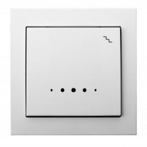 Biały mechanizm włącznika schodowego z podświetleniem ŁP-3WS/00 KIER OSPEL