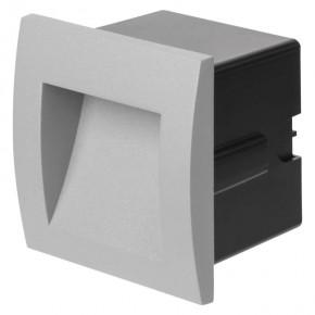 Oswietlenie-schodowe - orientacyjna oprawa led do wbudowania 6w 3000k szara ip54 zc0105 emos