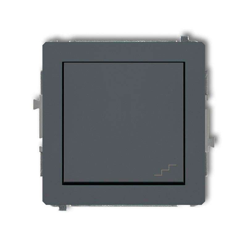 Wylaczniki-schodowe - włącznik schodowy grafitowy mat 28dwp-3 deco karlik firmy Karlik
