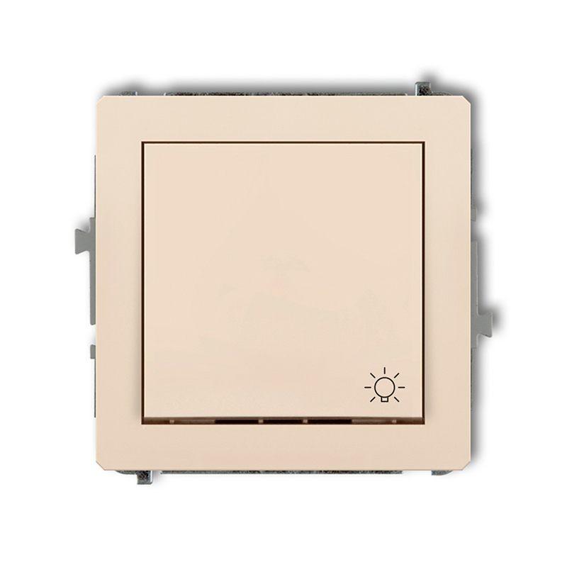 Wylaczniki-typu-swiatlo-zwierne - włącznik beżowy światło zwierne 1dwp-5 deco karlik firmy Karlik