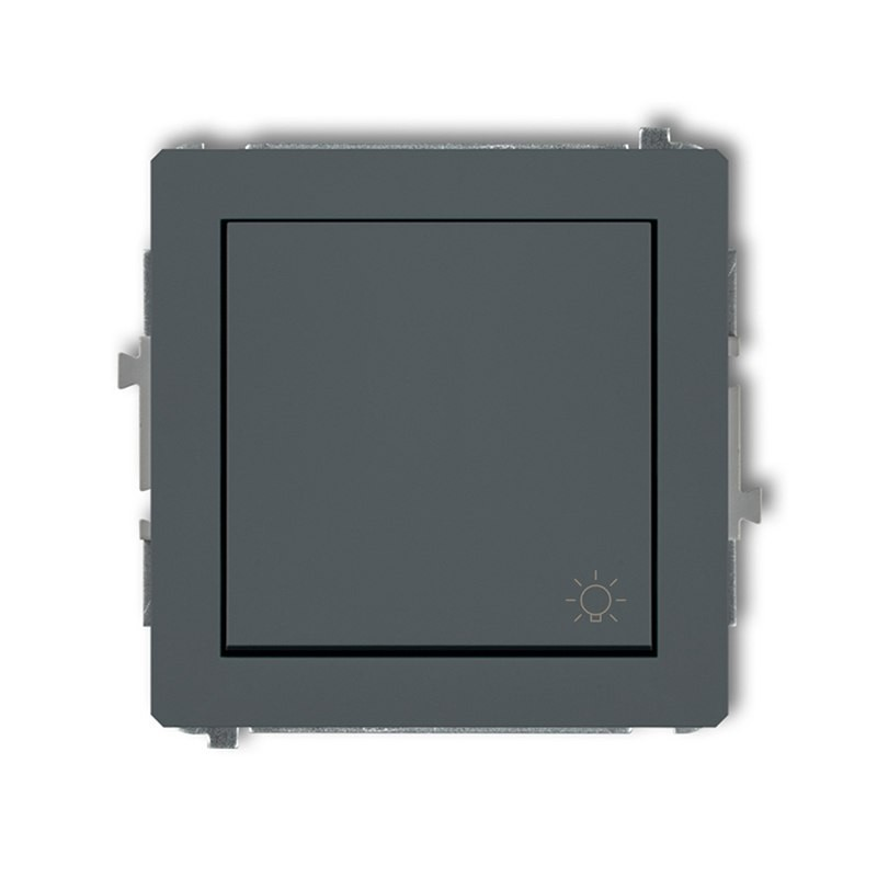 Wylaczniki-typu-swiatlo-zwierne - mechanizm włącznika światło zwierne grafitowy mat 28dwp-5 deco karlik firmy Karlik