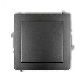 Wylaczniki-krzyzowe - grafitowy włącznik krzyżowy 11dwp-6 deco karlik