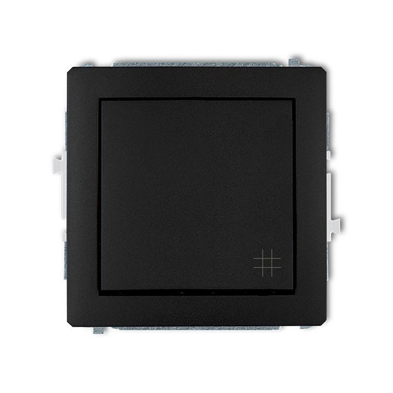 Wylaczniki-krzyzowe - włącznik krzyżowy czarny mat 12dwp-6 deco karlik firmy Karlik